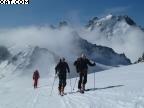 Raid à skis entre Argentière et Trient